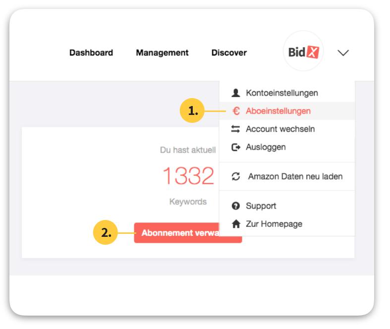 BidX-Profil-Accounteinstellungen